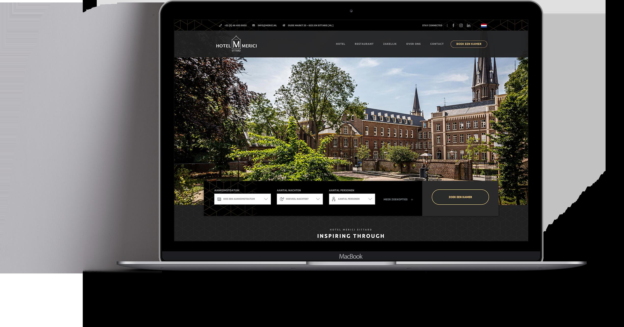 Website Hotel Merici